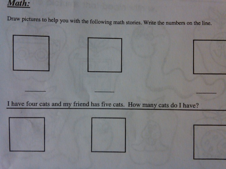Can someone help me with my 5-year-old daughter's Math