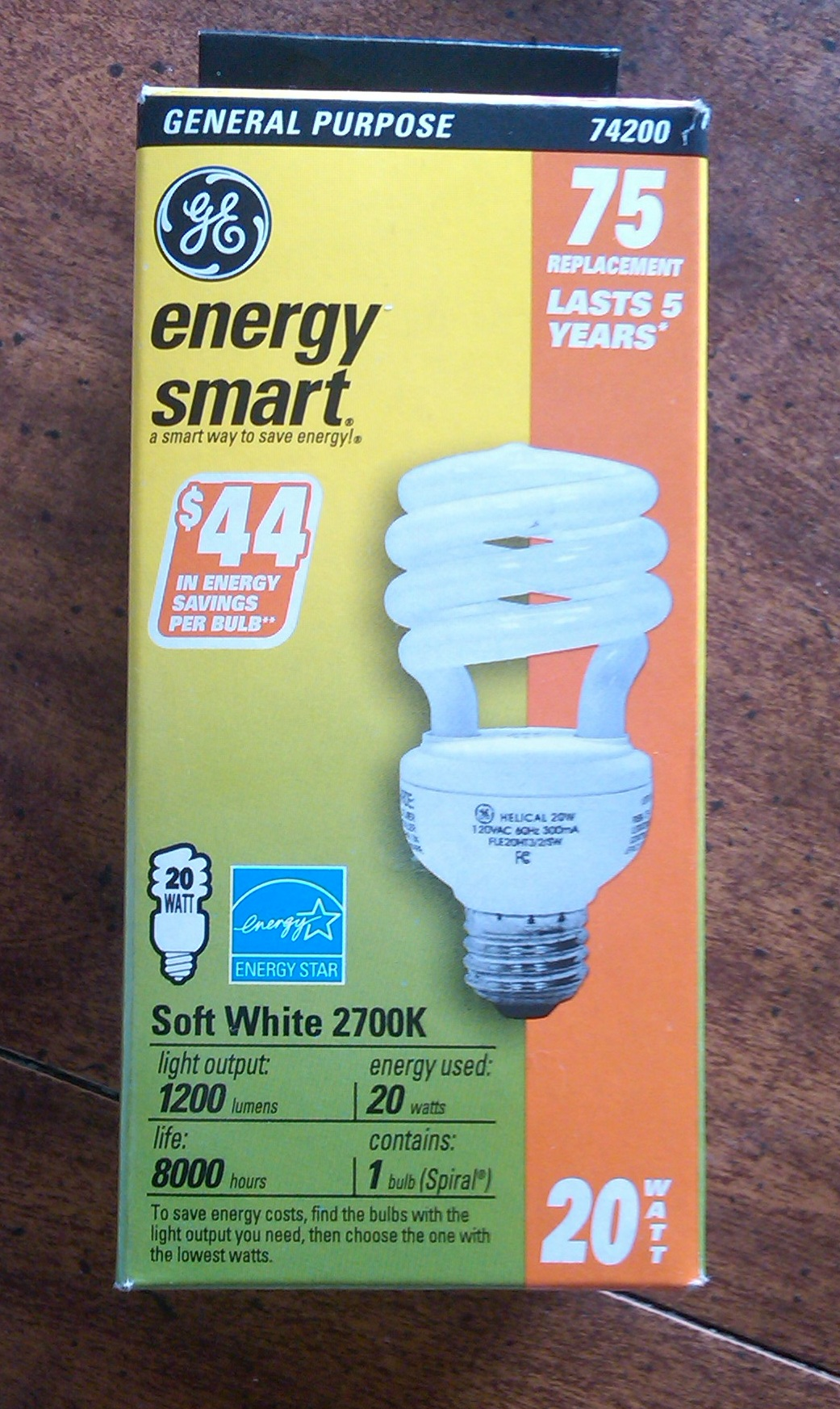 Energy Efficient Bulb 20-75 w